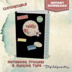 notebook sticker, labels