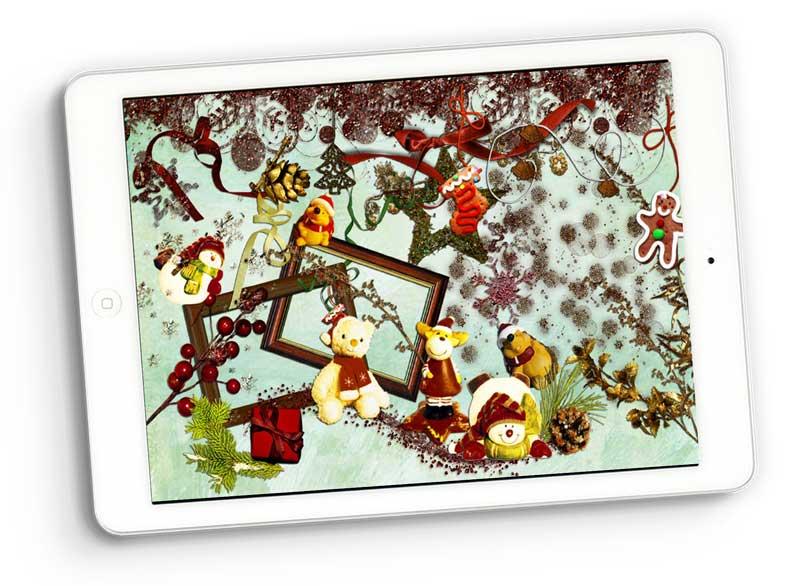 dreaming christmas digital scrapbooking
