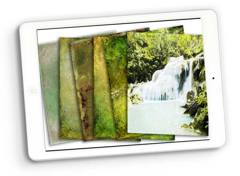 rainforest paper digital scrapbooking