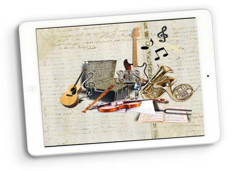 music digital scrapbooking