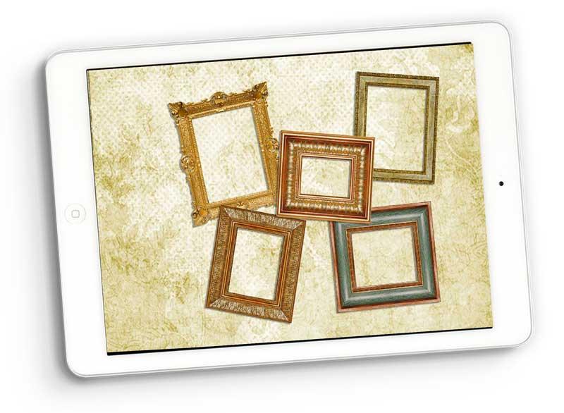 Vintage Frames Digital Scrapbooking