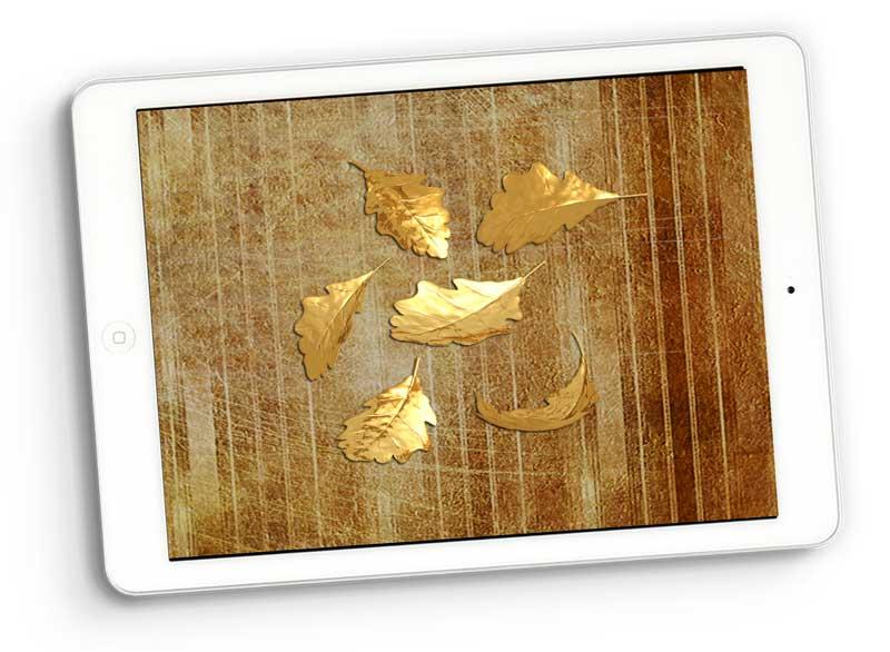 golden leaves digital scrapbooking